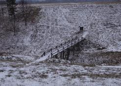 Vorutos piliakalnis žiemą