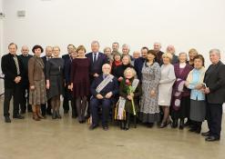 Vygandas Račkaitis su draugais ir kolegomis