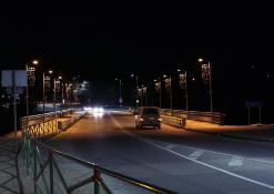 A. Baranausko tiltas naktį