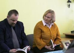 Sigutis Obelevičius ir rašytoja Aldona Dudonytė-Širvinskienė