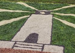 Floristinio kilimo fragmentas