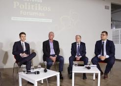 Politologas L. Kojala, profesorius R. Lopata, politikas G. Kirkilas ir politikas L. Kasčiūnas