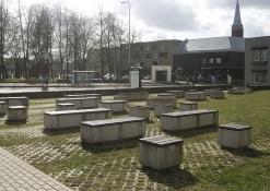 Balandis - Anykščių kultūros centro kiemelis