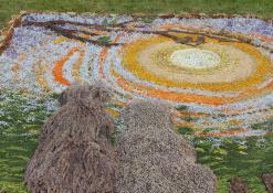 Floristinio kilimo detalė