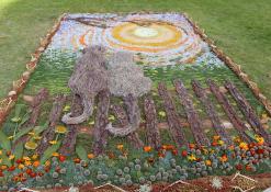 Floristinio kilimo kompozicija