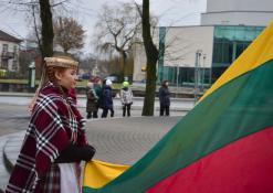 2016 03 11 - Lietuvos nepriklausomybės atkūrimo diena Anykščiuose (2016) - Valstybinės vėliavos pakėlimo ceremonija