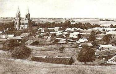 """Fotokonkursas """"Anykščiai ir apylinkės"""" (1930) - Miesto panorama"""