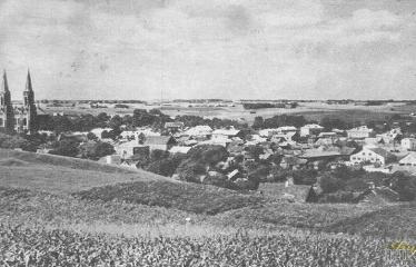 """Fotokonkursas """"Anykščiai ir apylinkės"""" (1959) - Miesto panorama"""