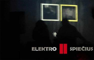 """Elektroninės muzikos koncertas """"ELEKTROSPIEČIUS II"""" - Plakatas"""