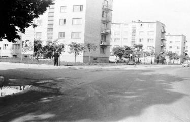 """Fotokonkursas """"Anykščiai ir apylinkės"""" (1976) - Jono Biliūno gatvė"""