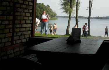 """Fotokonkursas """"Anykščiai ir apylinkės"""" (2007) - Žuvienės pašiūrė Rubikiuose"""