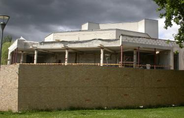 """Fotokonkursas """"Anykščiai ir apylinkės"""" (2009) - Kultūros centro renovacijos darbai"""