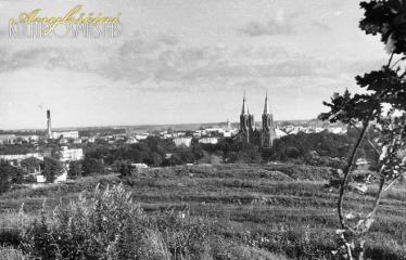 """Fotokonkursas """"Anykščiai ir apylinkės"""" (1994) - Anykščių panorama"""