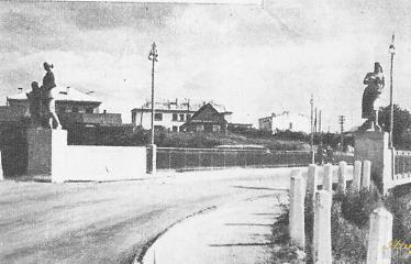 """Fotokonkursas """"Anykščiai ir apylinkės"""" (1959) - Naujasis tiltas"""