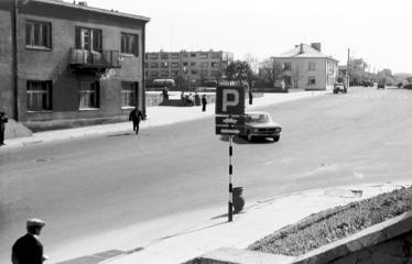 """Fotokonkursas """"Anykščiai ir apylinkės"""" (1977) - Miesto centras"""
