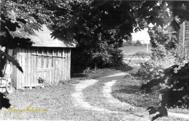 """Fotokonkursas """"Anykščiai ir apylinkės"""" (1990) - Naujieji Elmininkai - A. Gaižausko gyvenamasis namas"""