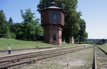 """Fotokonkursas """"Anykščiai ir apylinkės"""" (2012) - Siaurojo geležinkelio stotis"""