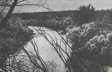 """Fotokonkursas """"Anykščiai ir apylinkės"""" (1959) - Šventoji ties Puntuku"""