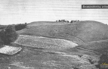 """Fotokonkursas """"Anykščiai ir apylinkės"""" (1959) - Šeiminiškėlių piliakalnis"""