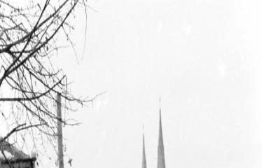 """Fotokonkursas """"Anykščiai ir apylinkės"""" (1954) - A. Baranausko aikštė"""