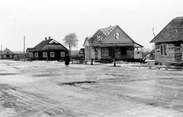 """Fotokonkursas """"Anykščiai ir apylinkės"""" (1954) - Statybos"""