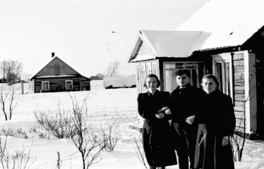 """Fotokonkursas """"Anykščiai ir apylinkės"""" (1956) - Žiema"""