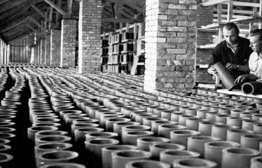 """Fotokonkursas """"Anykščiai ir apylinkės"""" (1957) - Rubikių plytinė"""
