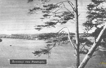 """Fotokonkursas """"Anykščiai ir apylinkės"""" (1959) - Šventoji ties Piestupiu"""
