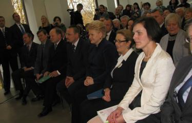 Oficialios Anykščių L. ir S. Didžiulių Viešosios bibliotekos atidarymo iškilmės - Iškilmių akimirka