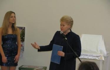 Oficialios Anykščių L. ir S. Didžiulių Viešosios bibliotekos atidarymo iškilmės - Lietuvos prezidentė Dalia Grybauskaitė