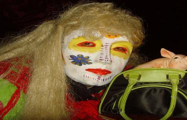 Užgavėnės Naujųjų Elmininkų bendruomenėje - Kaukės ir personažai