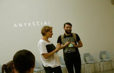 Jaunųjų kūrėjų dienos - Susitikimai su menininkais dirbančiais medijų srityje - Projekto dalyvis garso inžinierius Edvinas Gogelis