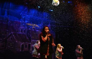 Miesto eglės įžiebimas - Šventinio koncerto akimirka