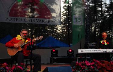 """Festivalis """"Purpurinis vakaras"""" (2016) - Didysis festivalio pabaigos koncertas - Kostas Smoriginas ir Audrius Balsys"""