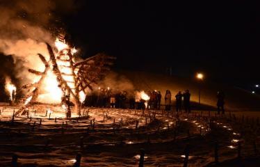 """Savanoriška aplinkosaugos iniciatyva - """"Žemės valanda"""" - Apeiginio gaidelio deginimas"""