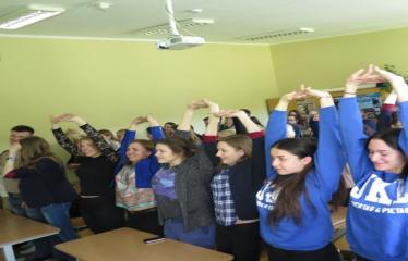 Seimo nario, konservatorius Roko Žilinsko viešojo kalbėjimo pamoka - Mokiniai dalyvauja paskaitoje