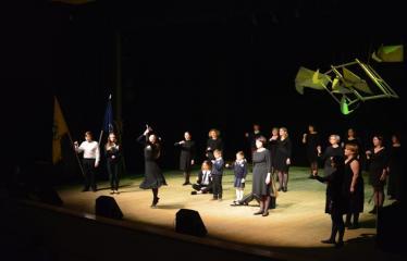 """Antano Vienuolio mokyklos 95-ųjų metinių šventinis renginys """"Laiko laiškai"""" - Renginio akimirka"""