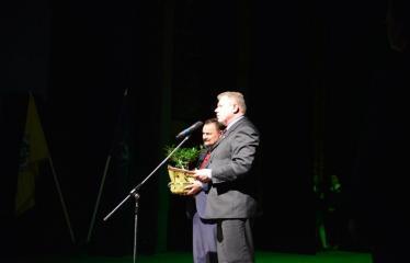 """Antano Vienuolio mokyklos 95-ųjų metinių šventinis renginys """"Laiko laiškai"""" - Anykščių miesto meras Kęstutis Tubis ir vicemeras Sigutis Obelevičius"""
