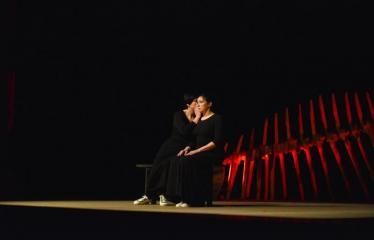 """Tarptautinis mėgėjų teatrų festivalis """"ARTimi"""" (2017) - Spektaklis """"Teatro fragmentas 1"""", """"Ateina ir išeina"""" - Aktorės Edita Ražanienė ir Jevgenija Gnedova"""