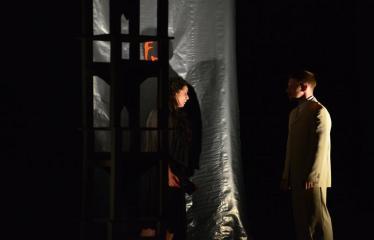 """Tarptautinis mėgėjų teatrų festivalis """"ARTimi"""" (2017) - Spektaklis """"Margarita"""" - Aktoriai Evgenija Gnedova ir Tomas Pajuodis"""