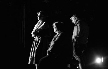 """Tarptautinis mėgėjų teatrų festivalis """"ARTimi"""" (2017) - Spektaklis """"Prieblandoje"""" - Aktoriai iš kairės į dešinę: Ieva Gražytė, Audronė Pajarskienė, Žilvinas Pranas Smalskas"""