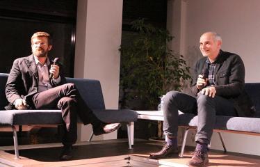Vidmanto Šmigelsko įspūdžių iš kelionės po Sibirą pasidalijimo vakaras - Vidmantą Šmigelskį kalbina žurnalistas Linas Bitvinskas