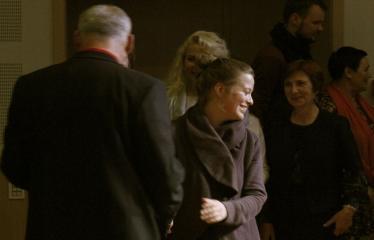 Teresės Mikeliūnaitės kultūros premijos laureato Žilvino Prano Smalsko pagerbimo vakaras - Sveikina Anykščių kultūros centro darbuotojai