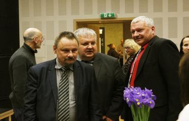 Teresės Mikeliūnaitės kultūros premijos laureato Žilvino Prano Smalsko pagerbimo vakaras - Sigutis Obelevičius