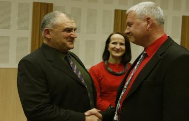 Teresės Mikeliūnaitės kultūros premijos laureato Žilvino Prano Smalsko pagerbimo vakaras - Sveikina kolegos ir draugai