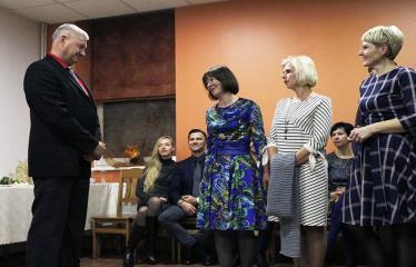 Teresės Mikeliūnaitės kultūros premijos laureato Žilvino Prano Smalsko pagerbimo vakaras - Vakaras restorane