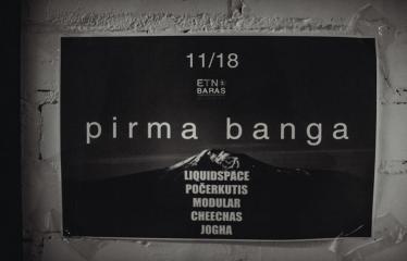 """Alternatyvios muzikos naktis """"Pirma banga"""" - Renginio plakatas"""
