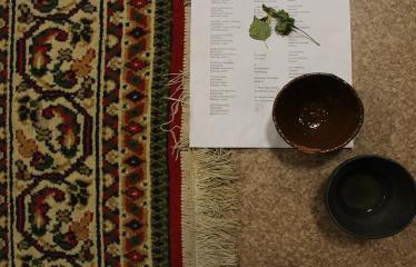 Sutartinių ir arbatos magija - Ceremonijos akimirka