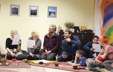 Sutartinių ir arbatos magija - Renginio svečiai gieda lietuviškas sutartines