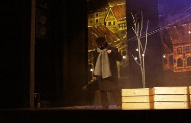 """Troškūnų vaikų ir jaunimo teatro studijos """"Mes"""" spektaklis """"Vienos nakties istorija"""" - Aktorius Jonas Buziliauskas"""
